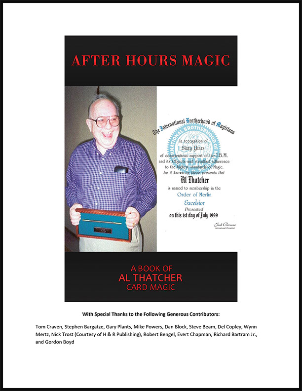 After Hours Magic: A Book of Al Thatcher Card Magic by Boyd