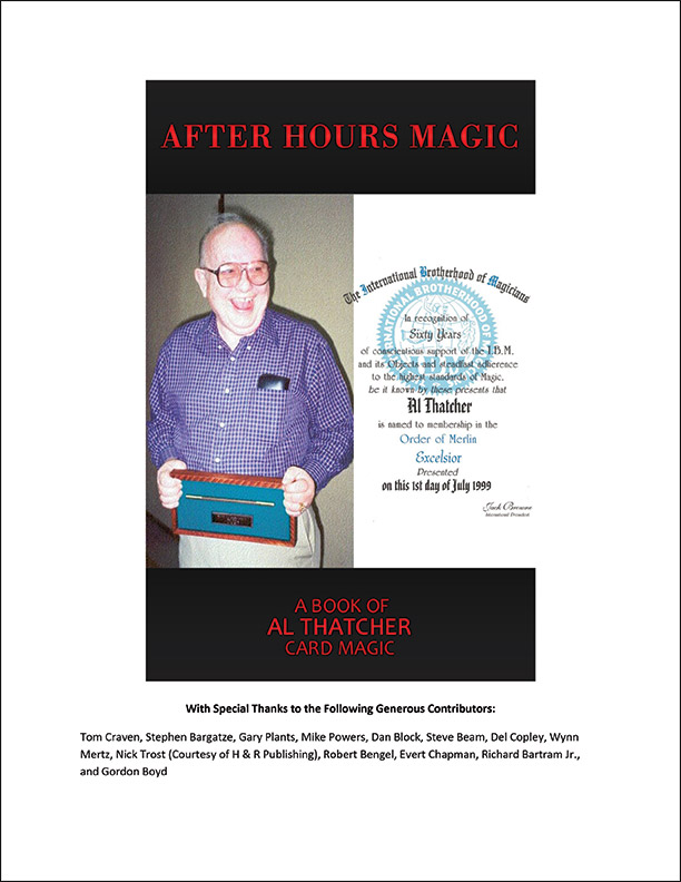 After Hours Magic: A Book of Al Thatcher Card Magic-Gordon Boyd