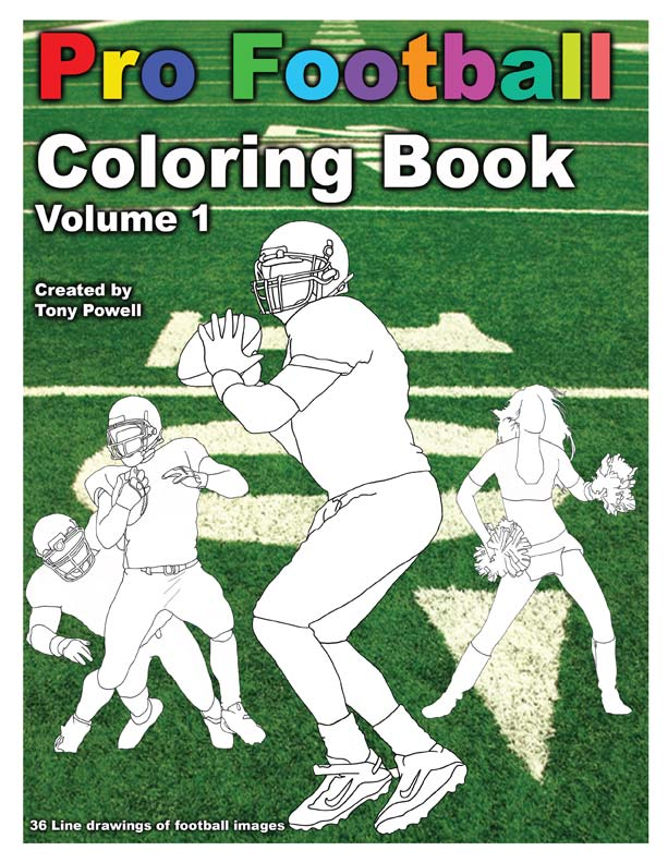 Pro Football Coloring Book By Tony Powell View Low Resolution Preview