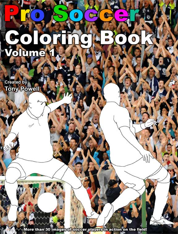 Pro Soccer Coloring Book by Tony Powell